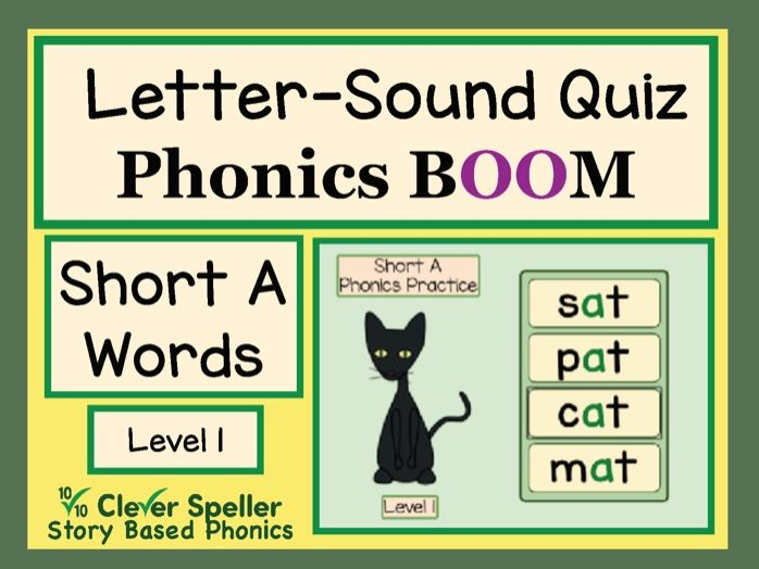 Phonics Practice Boom Cards Short A Words Level 1