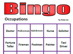 Occupations Bingo