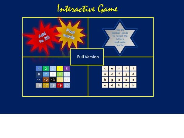 Add and Spell PowerPoint Game