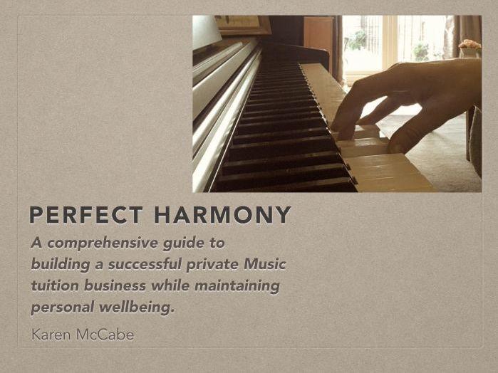 Perfect Harmony - Music Teacher Support
