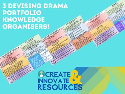 Devising Drama Portfolio Knowledge Organiser  Bundle (GCSE OCR)
