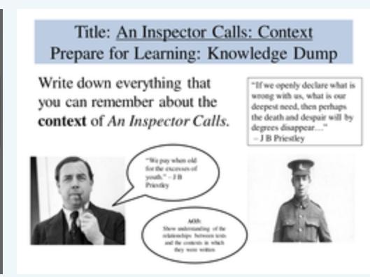 An Inspector Calls Plot, Context, Setting, Form and Genre Bundle