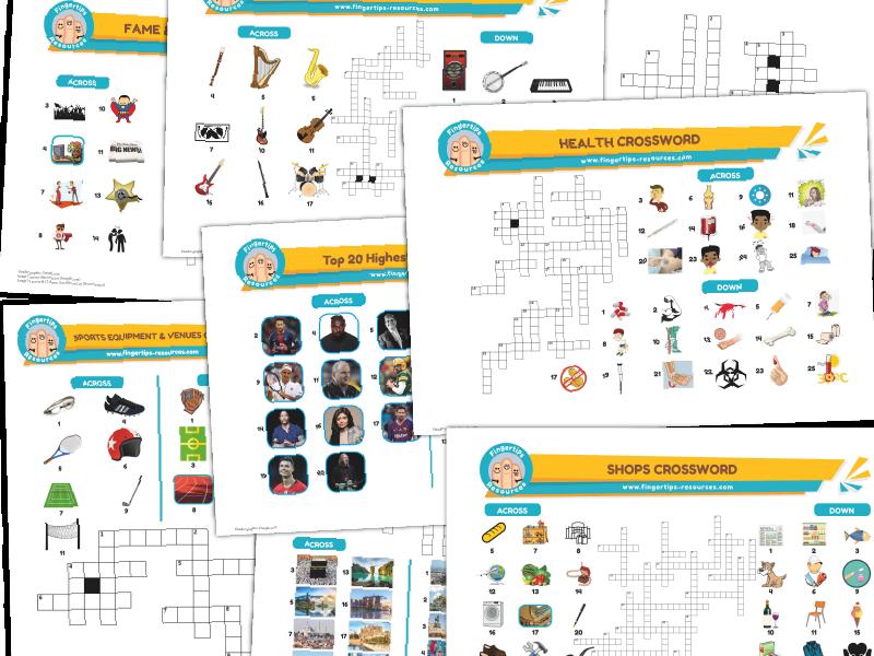 7 x ESL Crosswords Bundle (Pack 5)
