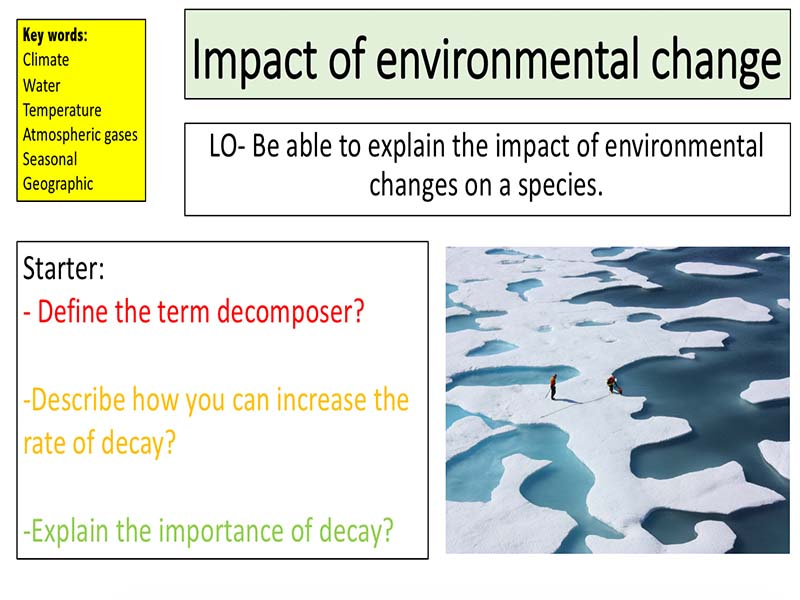 Impact of environmental change