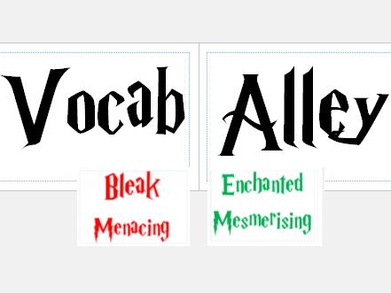 KS2 Harry Potter themed Display Vocabulary