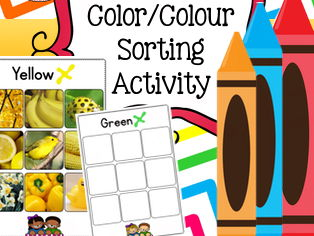 Autism Resources: Color Sorting, Colour Sorting