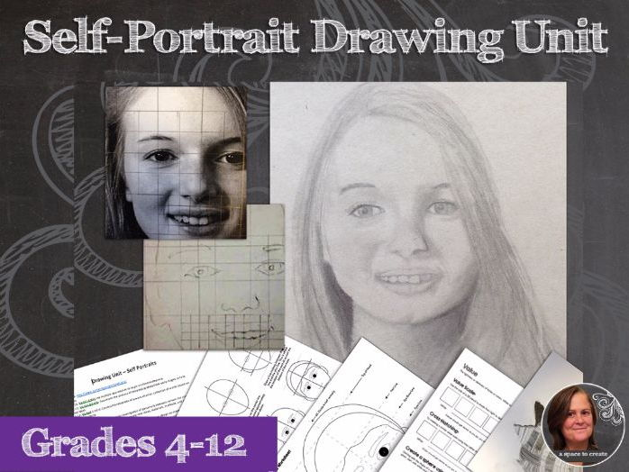 Drawing Unit - Self-Portraits - Value, Line, Drawing lessons