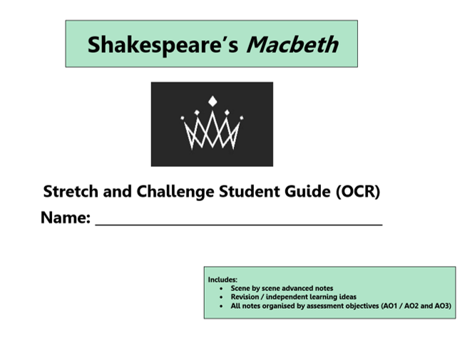 GCSE 9-1 Macbeth OCR Scheme of Work / Learning