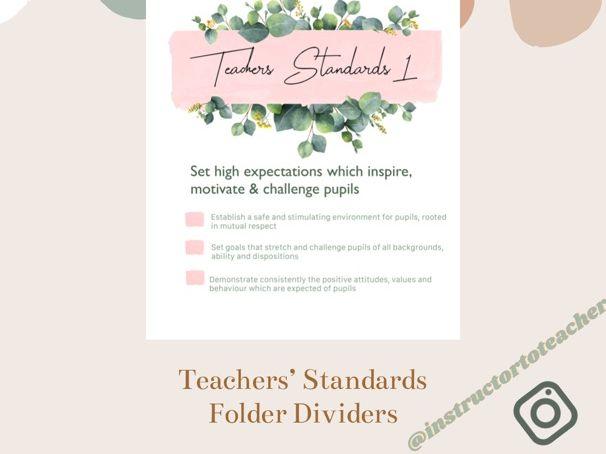 Teachers' Standards Folder Dividers - eucalyptus