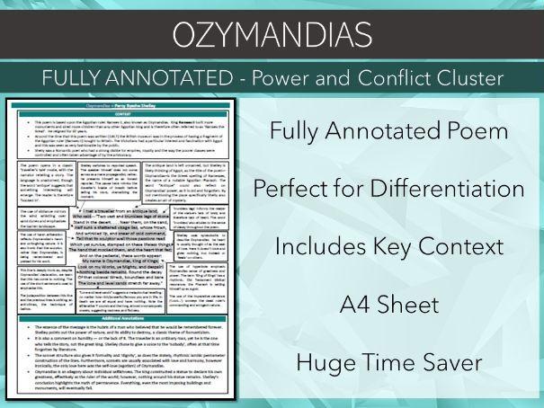 Ozymandias Annotated Poem