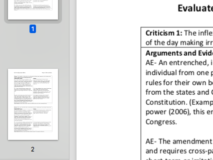 """EDEXCEL Government & Politics """"Evaluate how effectively the US Constitution operates"""" essay plan"""
