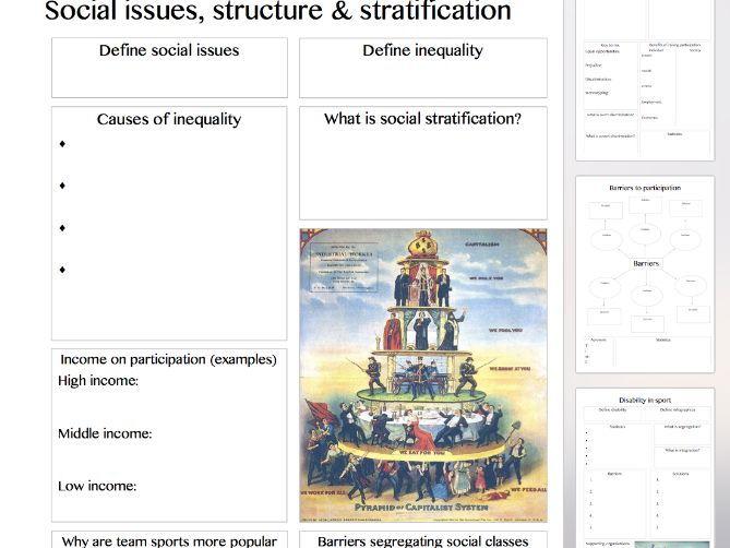Physical Education AQA new Alevel - Sociology of sport - summary sheet templates