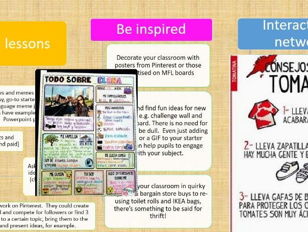 Creative Pinterest Ideas for Spanish Lessons and Guide to Using Pinterest The Classroom
