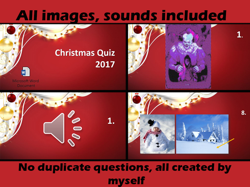 2017 Christmas End Of Year Quiz (some maths)