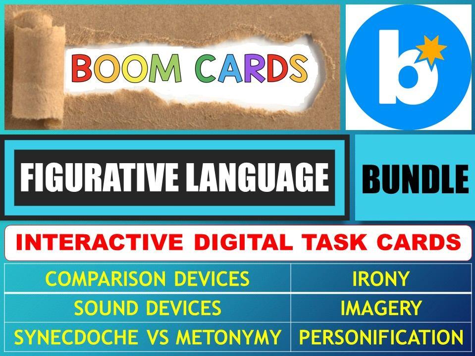 FIGURATIVE LANGUAGE - FIGURES OF SPEECH: BOOM CARDS - BUNDLE