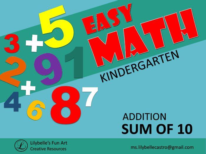 Sum of 10 - Easy Math -Addition