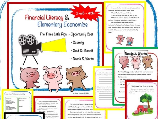 Financial Literacy  - Featuring: The Three Little Pigs