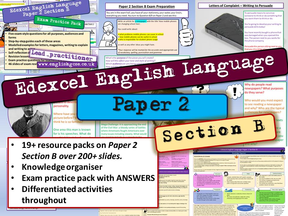 Edexcel English Language Paper 2 Section B