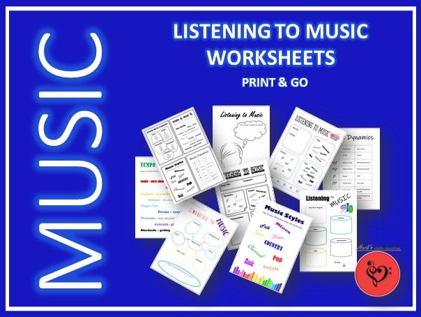 Listening to Music Worksheets