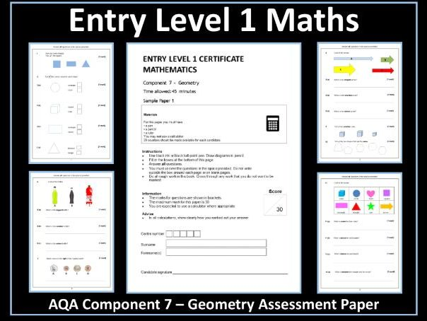 AQA Entry Level Maths Assessment - Geometry