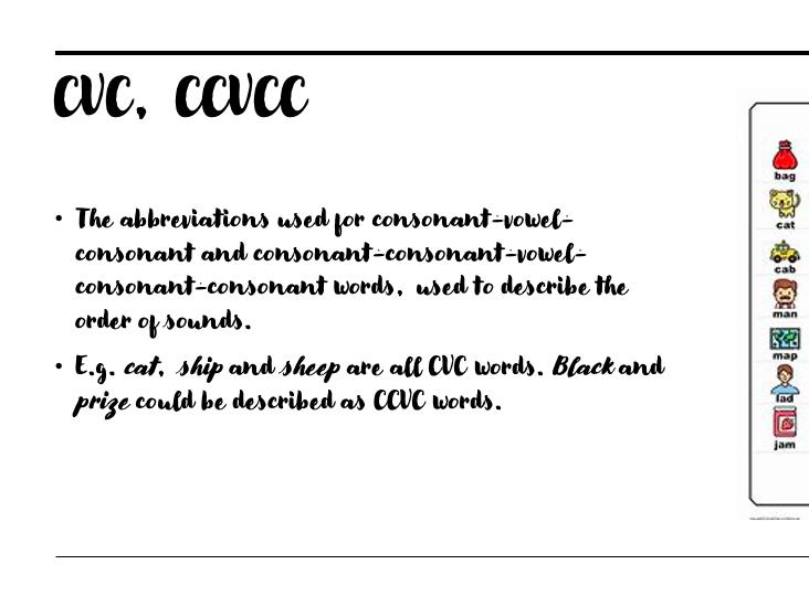 Phonics key terminology