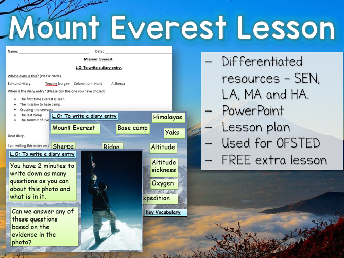 Y3 / Y4 Mount Everest Interview Lesson