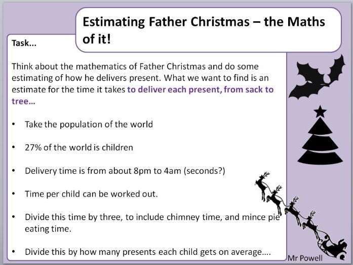 Father Christmas Present Time - Standard Form