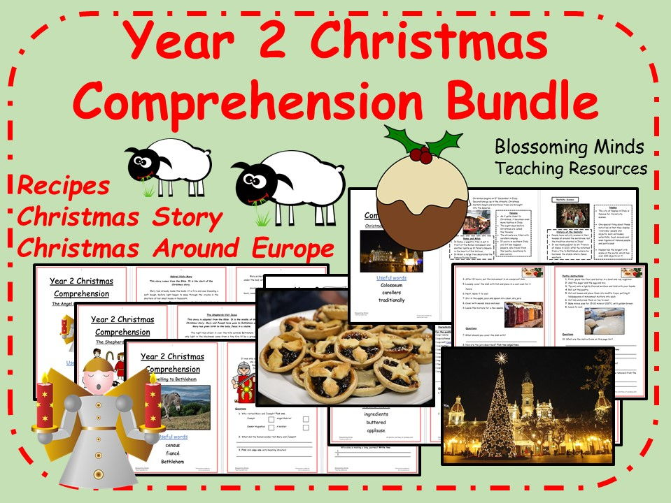 Year 2 Christmas Comprehension Bundle