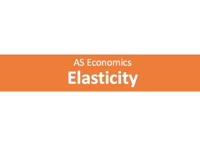 A level Economics Elasticity