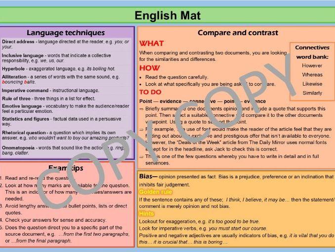 Dyslexia English Mat