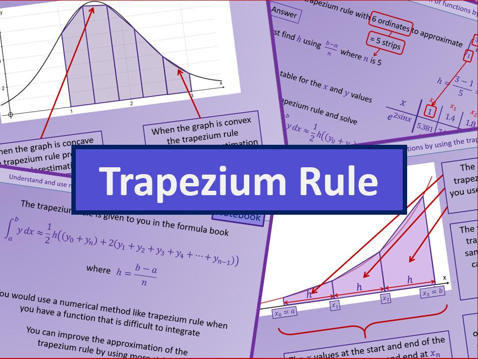Trapezium Rule - A level A2 Mathematics