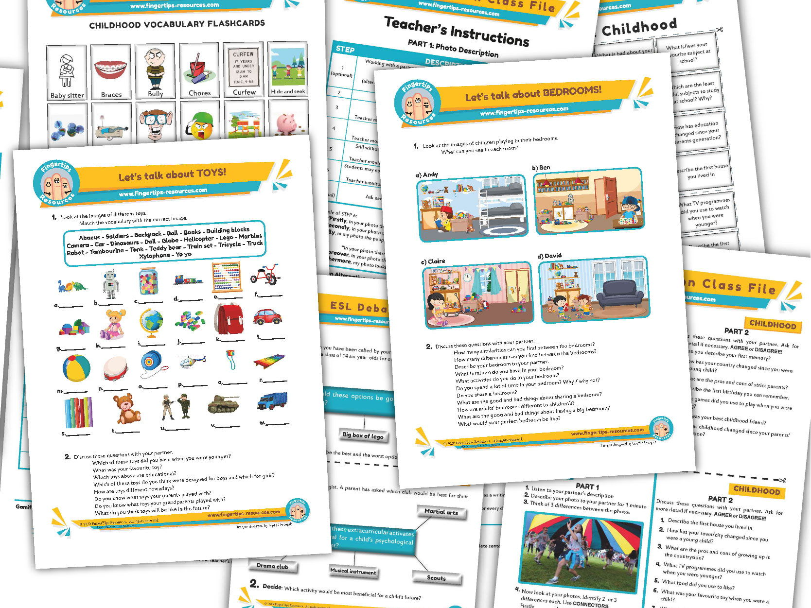 Childhood Unit - ESL Activity Bundle