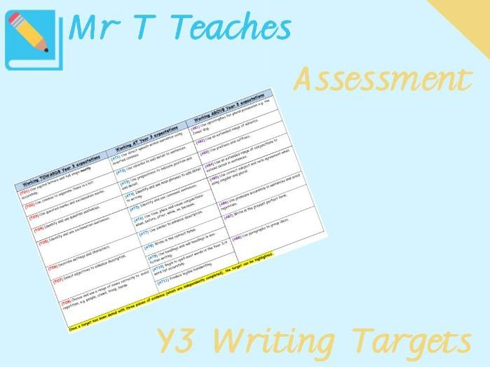 Year 3 Writing Targets Assessment