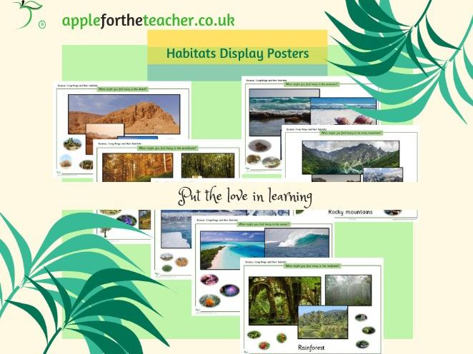 Types of Habitats KS1 Display Posters