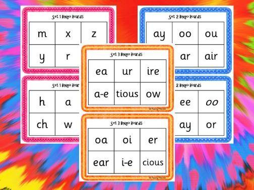 Phonics Read Write Inc Set 1 to 3 - Sound Bingo Boards