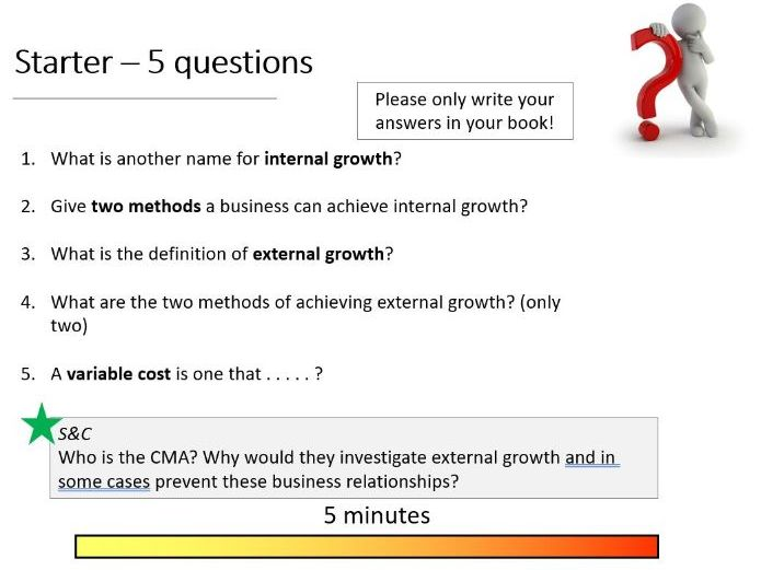 9-1 GCSE Business Theme 2 BUNDLE decisions starter questions, quiz, revision, knowledge recall