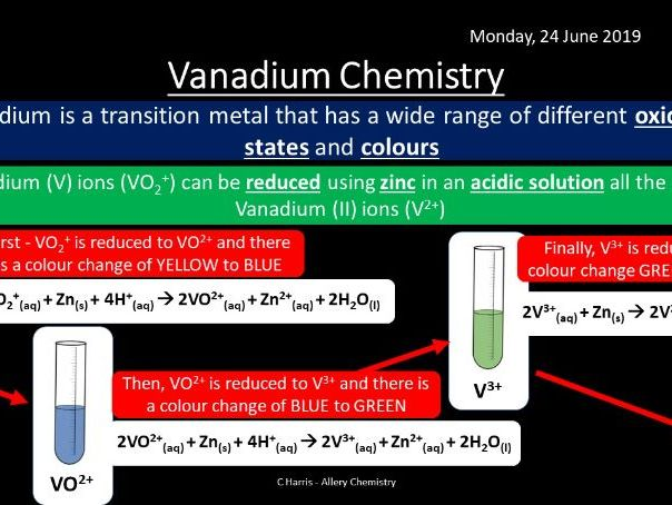 NEW AQA Yr2 Transition Metals Revision