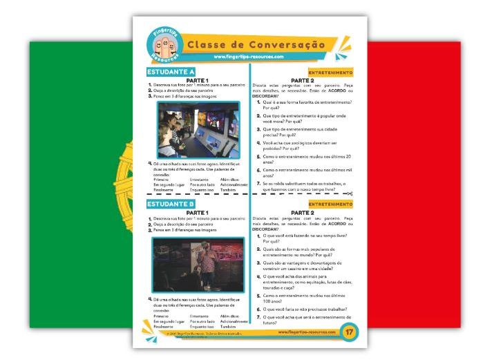 Entretenimento - Portuguese Speaking Activity