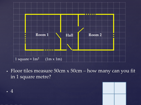 Costing in construction - calculating perimeter and area then costing materials e.g. flooring etc