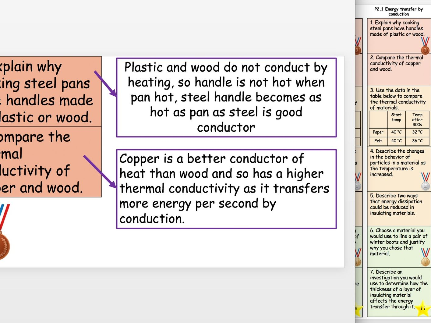 P2 - P4 Structure Strips and Answers