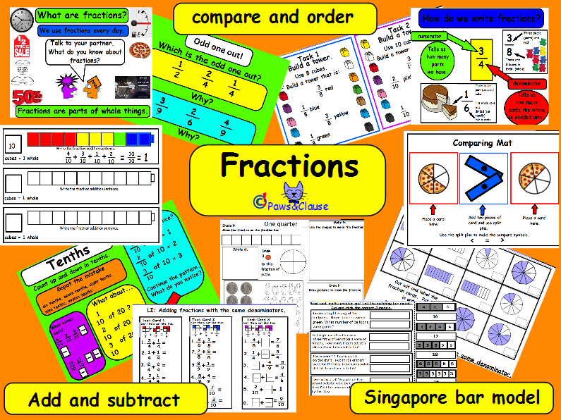 Fractions KS2 (Including a few Singapore Bar Model worksheets.) by ...