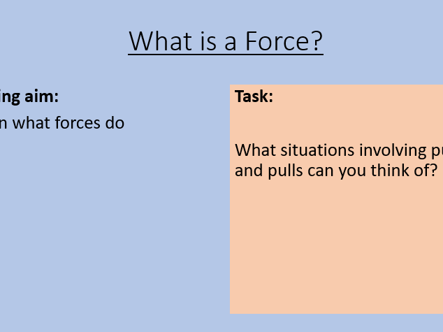KS3 What is a Force?