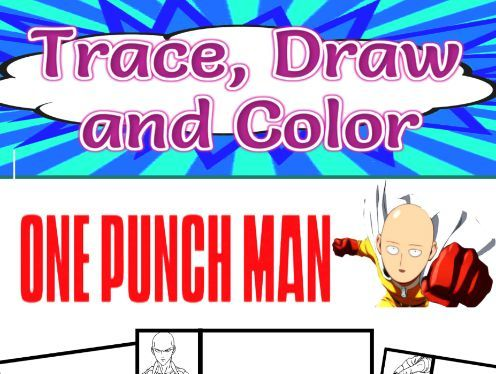 One Punch Man Trace, Draw and Color