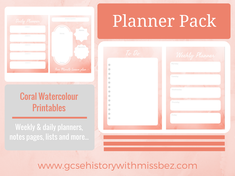 Teacher Planner Pack - Daily and Weekly Printables to Support Your Planning (Watercolour Theme)