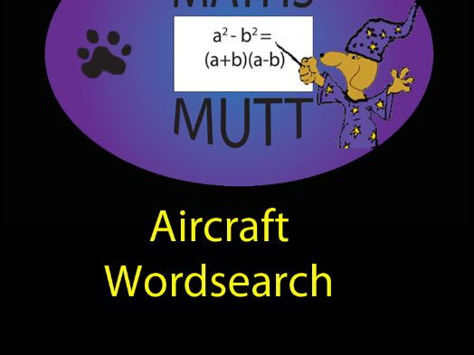 Pooch Puzzles: Aircraft Word Search