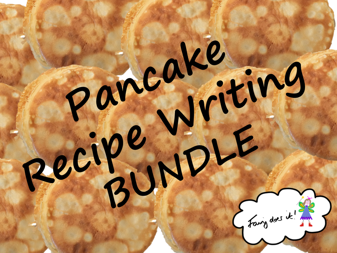 Pancake recipe writing BUNDLE