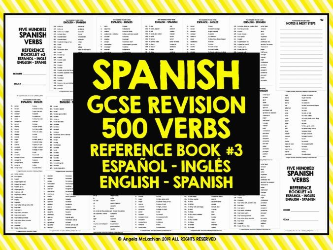 GCSE SPANISH: SPANISH 500 VERBS REFERENCE BOOK #3