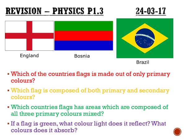 Activate P1.3 revision - complete lesson (KS3)
