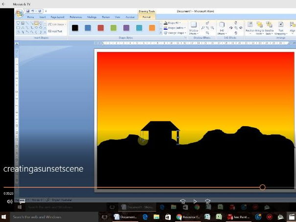 Creating a Sunset Silhouette in Microsoft Word - The Companion Video