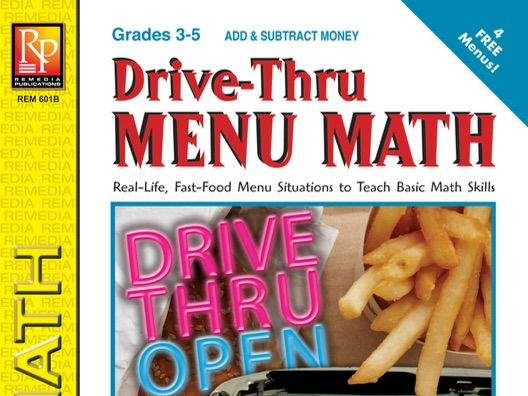 Adding & Subtracting Money: Drive-Thru Menu Math